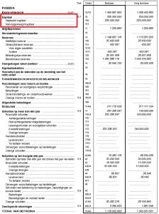 Kapitaal op een Belgische balans
